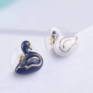 Kate Spade Mandarin Duck Enamel Color Earring